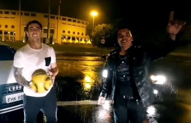 Buffarini grabó un videoclip junto a Ale Ceberio en San Pablo.