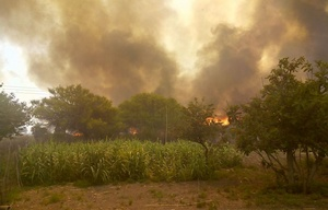 Así se encuentra la zona afectada por el incendio.