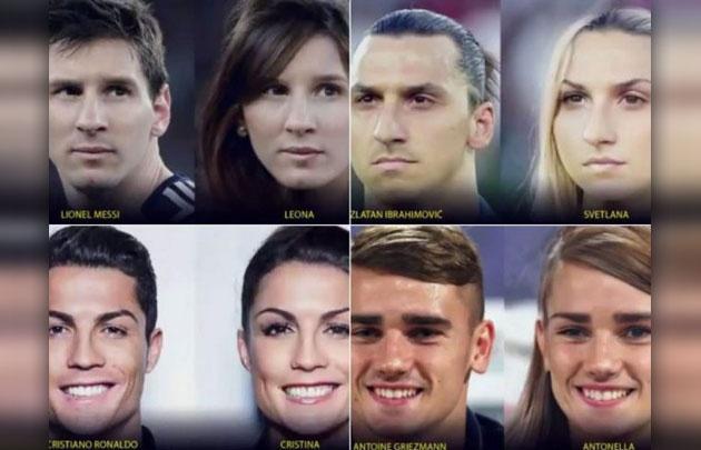 Las principales figuras del fútbol si hubieran nacido mujeres.