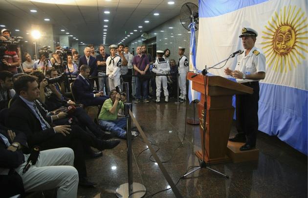 Balbi se refirió al informe estadounidense sobre el destino del submarino.