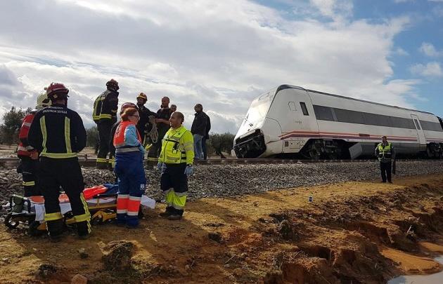 Descarriló un tren y dejó 35 heridos
