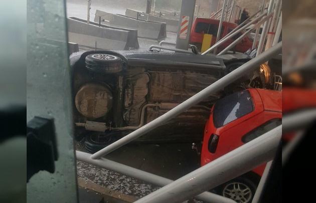 El accidente provocó demoras en el tránsito.