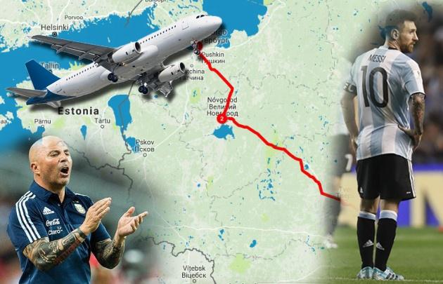 El recorrido de Argentina por Rusia.
