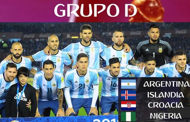 El grupo de Argentina en el Mundial.