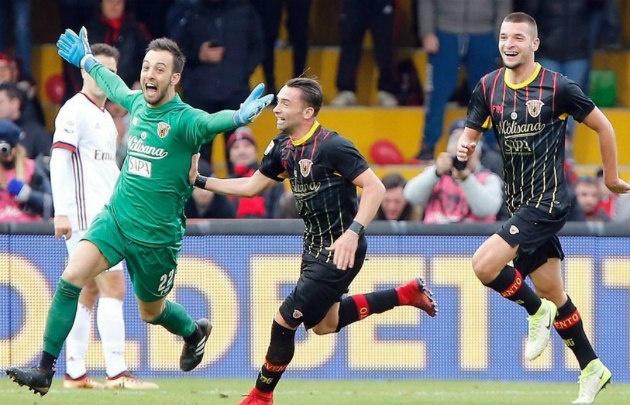El arquero le arruinó el debut a Gennaro Gattuso como DT del Milan.