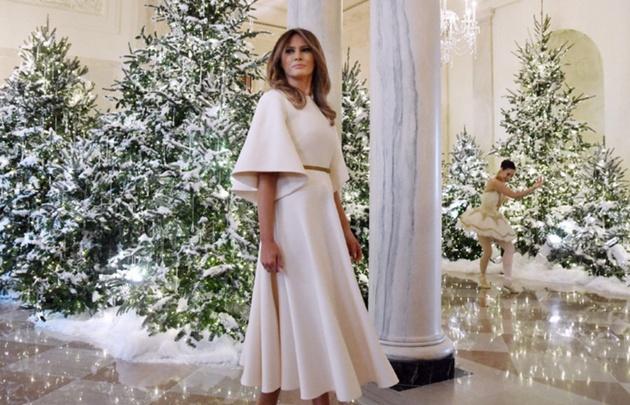 Melania Trump decoró la Casa Blanca para Navidad.