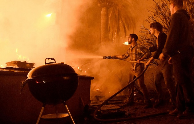 Impactantes imágenes del incendio en el sur de California. (Foto