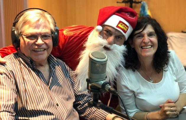 Papá Noel en Viva la Radio.
