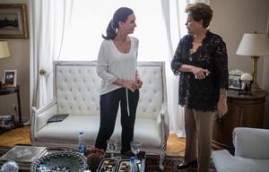 Cristina recibió a Dilma en su casa de Recoleta