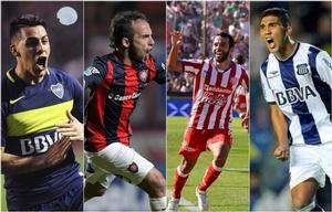Boca, San Lorenzo, Unión y Talleres, algunos de los animadores del certamen.