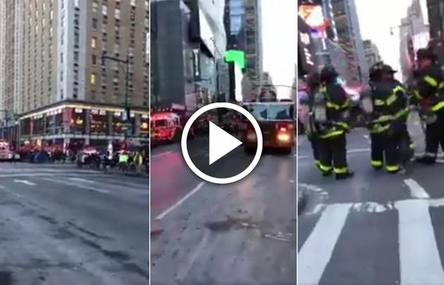 Explosión en el Port Authority Bus Terminal de Nueva York.