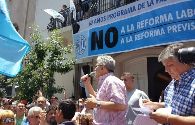 Protesta en Córdoba contra la reforma.