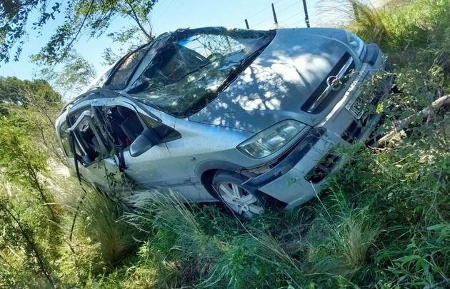 El accidente se produjo en el camino rural Las Lomas.