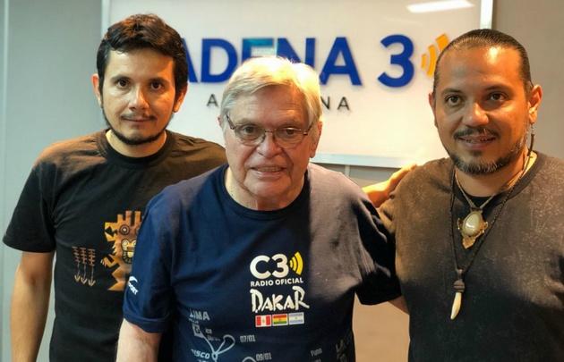 """Alfredo y Lucio """"El Indio"""" Rojas en Viva la Radio."""