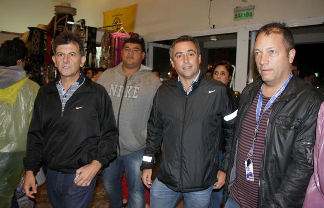 El intendente estuvo acompañado de Diego Mestre, Brenda Austin y Marcelo Cossar.