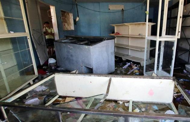 Minimercado de Puerto Ordaz Venezuela saqueado el 9 de enero.