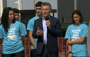 Macri encabezó la recorrida por el Parque Olímpico.