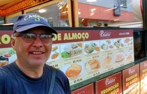 Orlando realizó un relevamiento de los precios en Bombinhas.