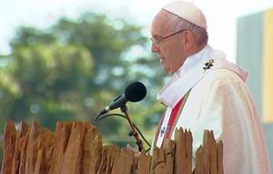 Francisco encabezó una multitudinaria misa en Temuco.