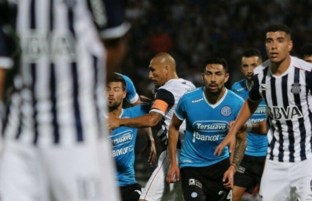 Erik Godoy (24) marcó el empate ''celeste'' (Foto: @Belgrano)