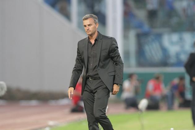 El DT de Belgrano se fue conforme con el rendimiento de su equipo.