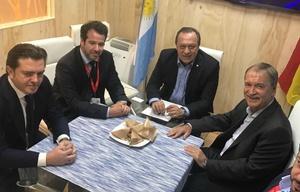 Schiaretti en reunión con las autoridades de AirEuropa