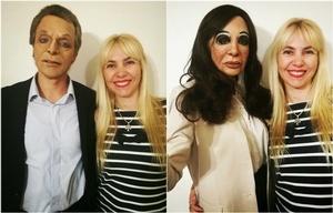 Ivana Ferrucci con Emiliano Senas y Laura Bruni.