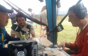 Blangino en el móvil del Dakar de Cadena 3