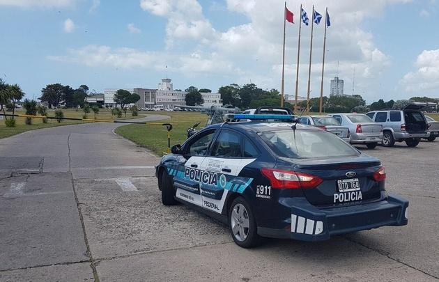 Operativo en la Base Naval de Mar del Plata.