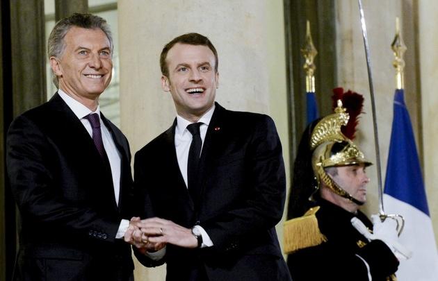 Macri y Macron se reunieron en el Palacio del Elíseo.