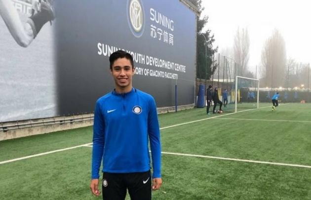 Franco Vezzoni, en Italia y con la indumentaria del Inter.