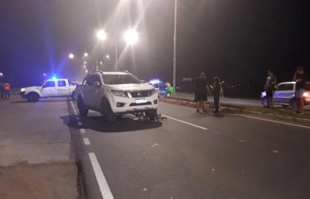 Pablo Micheli chocó a una ciclista en Junín.