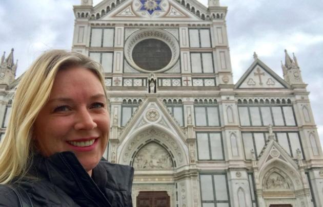 Celeste visita la histórica Florencia