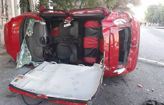 Accidente en Viamonte y 24 de septiembre