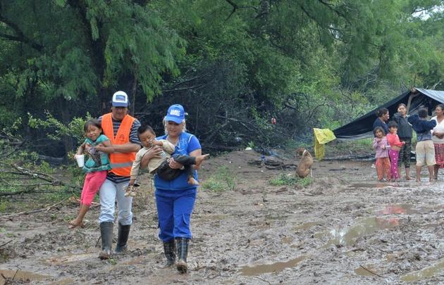 Salta continuaba afectado por la crecida del Río Pilcomayo