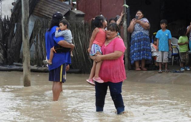 Los evacuados fueron trasladados a cinco centros de evacuaciones
