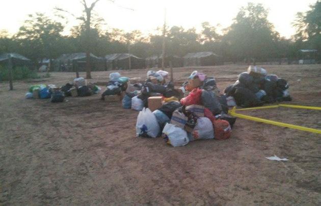 Donaciones para los inundados de Salta, tras la crecida del río Pilcomayo.
