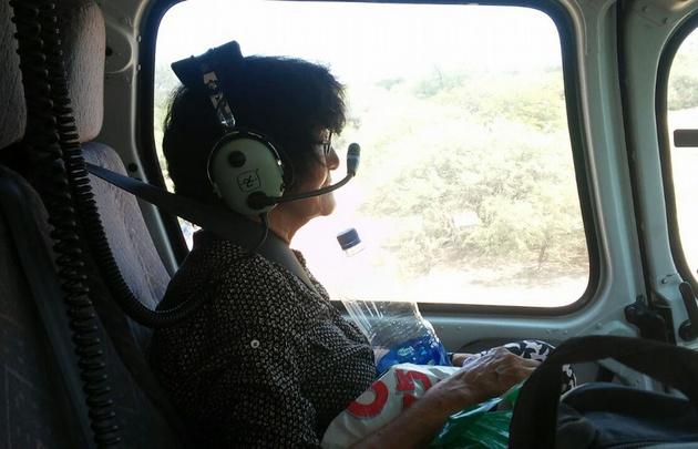 Cristina Berruti, de 74 años, fue rescatada de su vivienda en Bella Vista.