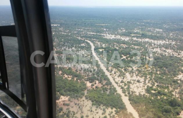 El drama de la zona de Santa Victoria Este desde el aire