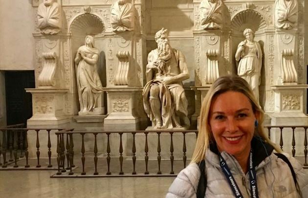 Celeste Benecchi continúa recorriendo las maravillas de Italia.