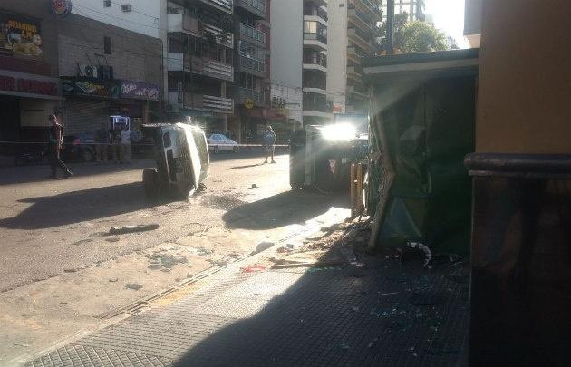 El accidente ocurrió en Corrientes y Ángel Gallardo.
