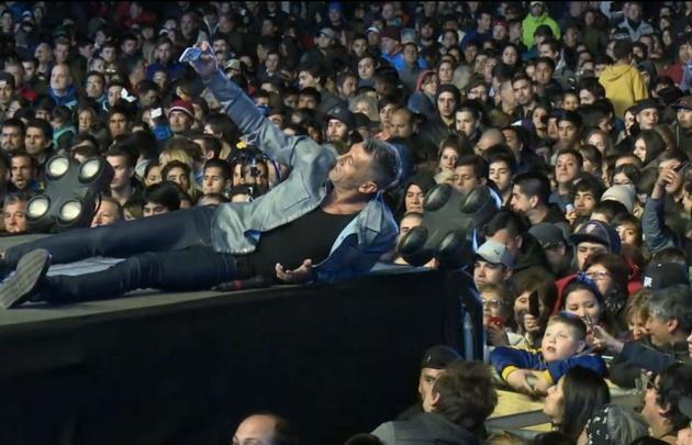 Sergio Goycochea encantó al público con su carisma. (Transmisión Fiesta del Lago)