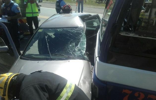 El accidente se produjo en la ruta 38.