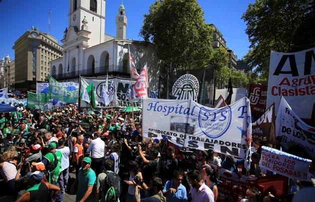 El acto central se realizó frente al Cabildo.