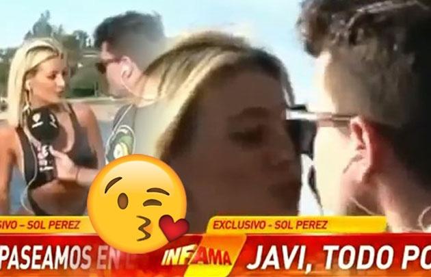 Sol Pérez protagonizó ''el beso del verano''.