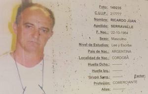 Ricardo Serravalle, uno de los delincuentes abatidos en el tiroteo de Nueva Córdoba