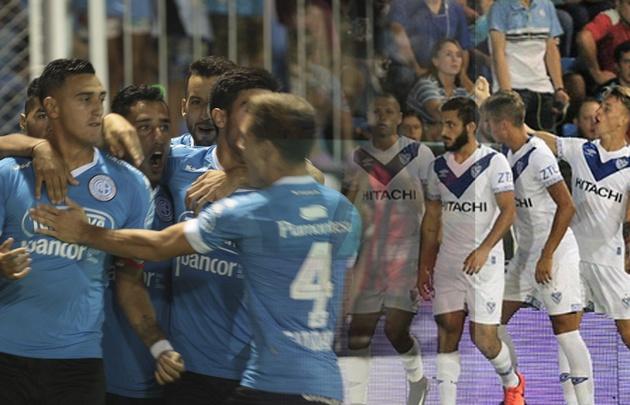 Vélez le tapó el festejo a Belgrano sobre el final.