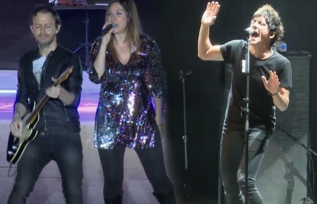 El grupo español y la banda de rock nacional tocaron ante más de 15 mil personas.