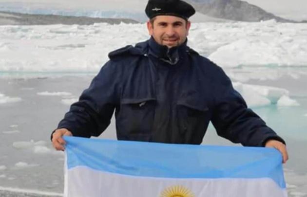 Hernán Rodríguez, jefe de maquinas del ARA San Juan.
