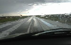 Lluvia y granizo en Las Altas Cumbres.